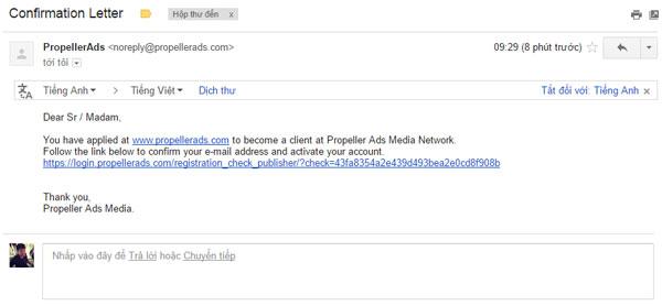 Giải pháp hay nhất để thay thế Google Adsense - Kiếm /ngày với PropellerAds